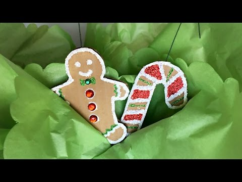 Gingerbread Cookie (Cardboard) Christmas Ornaments - DIY Christmas Ornaments - Crafts