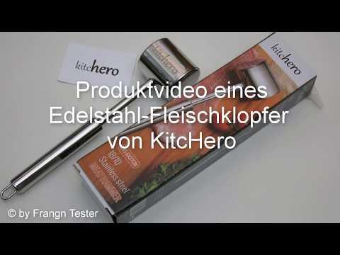 453 - Edelstahl-Fleischklopfer - von KitcHero