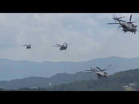 Four US Marine Corps Sikorsky CH-53E...