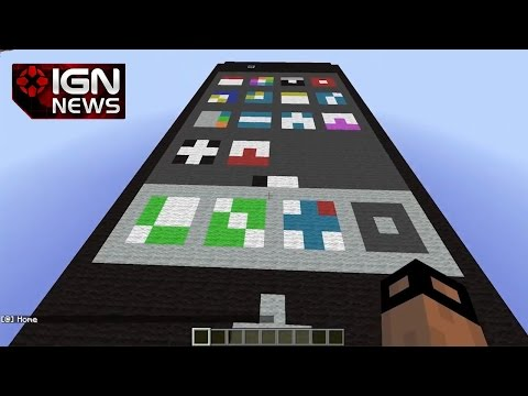 man - A German Minecraft player has built a working version of an iPhone in the game.