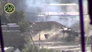 Syrian Tank Shoots Directly At Recording Camera