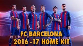 FC Barcelona 2016-2017 Home Kit (Official)