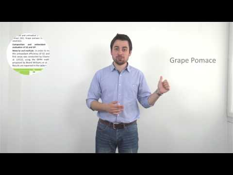 Nutrition - [PUBLICATION] Differences between Grape Extract, Grape Pomace and Grape Seeds (subtitles available)