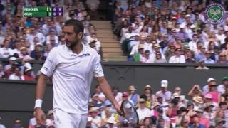Highlights from Roger Federer's quarter-final victory over Marin Cilic. SUBSCRIBE to The Wimbledon YouTube Channel:...