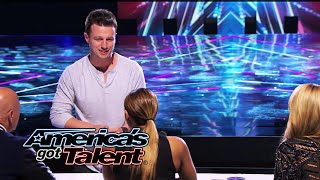 Card Trick Paints Picture of Howie Mandel - America's Got Talent 2014