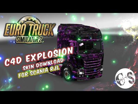 Scania RJL C4D Explosion Skin