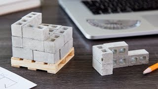 https://www.thegrommet.com/mini-materialsDecorate your desk with a stack of bricks. These mini, Made in the USA construction materials are just like the big ones—except they're a sixth (sometimes a twelfth) of the size. The tiny cinder blocks, wooden pallets, red bricks—even the mortar—are all made from the same elements as the real-life ones. These small but substantial materials make a fun desk toy, entertain tinkerers, and are raw matter for avid DIY-ers. Whether you're fidgeting with the blocks, using the wooden pallet as a coaster, or using the cement to build a pen holder, Mini Materials take construction materials to a whole new, easy-to-handle scale.