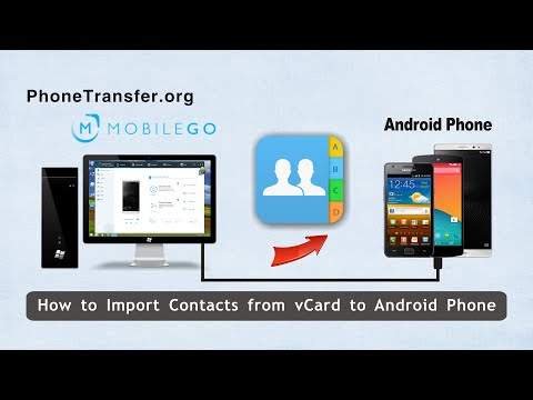 How to Import Contacts from vCard to Android Phone, Transfer VCF File Contacts to Android