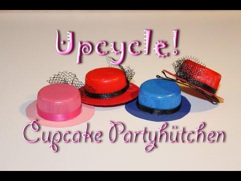 Upcycling Anleitung – DIY Deko für Cupcakes – Partyhut selber machen
