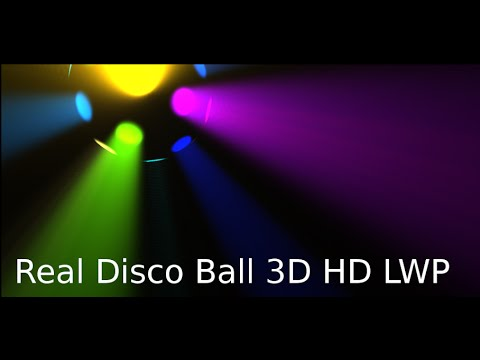 Video of Real Disco Ball 3D LWP