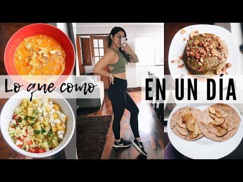 Dietas para adelgazar - LO QUE COMO EN UN DIA PARA PERDER PESO (pancakes de hoja de coca)  Michela Perleche