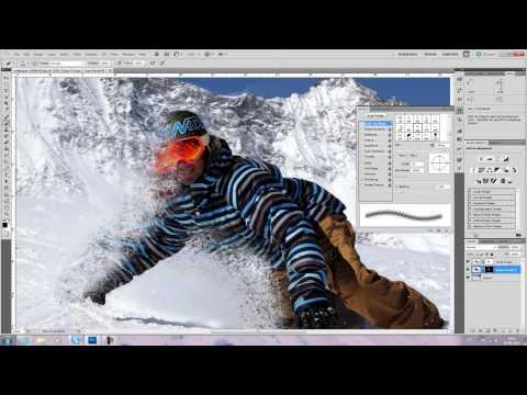 snowboard wallpaper speed art