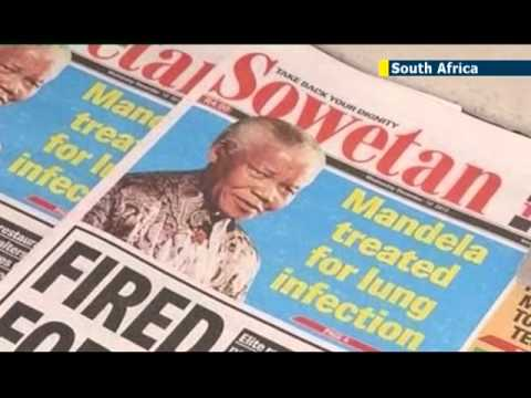 South Africa: Nelson Mandela continues to receive hospital treatment for lung infection