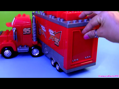 truck - This is mega bloks mack truck hauler with lightning mcqueen buildable toys 7769 from disney pixar cars and cars2. You can build these car-toys just like a le...