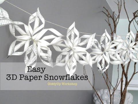 Download Easy 3D Origami Paper Snowflake Tutorial HD Video