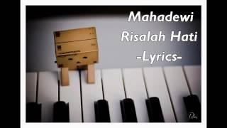 Mahadewi-risalah hati lyric