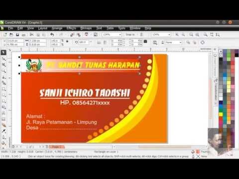 cara print kartu nama dengan coreldraw x4 cara mudah belajar photoshop