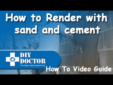 Rendering brick or block walls with sand and cement render