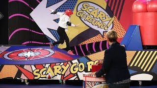 Video Twin Sisters Take on the 'Scary Go Round' Game MP3, 3GP, MP4, WEBM, AVI, FLV Desember 2018