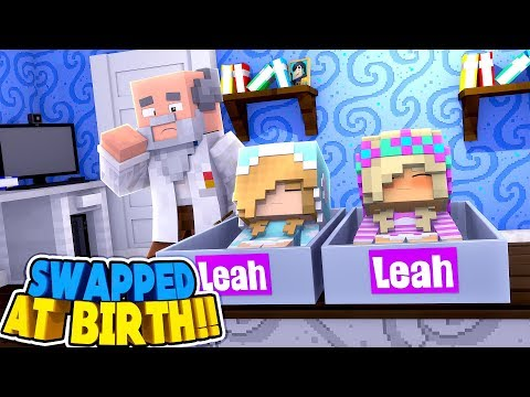 Minecraft: LEAH WAS SWAPPED AT BIRTH - WHO'S MY REAL SISTER?? Donny & Leah Adventure.