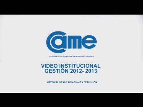 Video Institucional de CAME