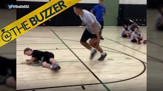 Aaron Gordon crosses up a young camper by @The Buzzer