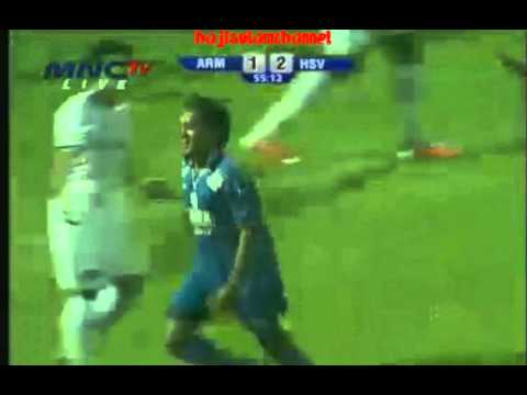 Video Gol Sunarto Arema Vs Hamburg SV (2-2) - 6 januari 2013