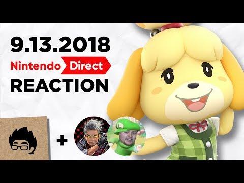 Nintendo Direct Reaction (Highlights) - 9.13.2018 - Artsy Omni ft. HMK & RabbidLuigi
