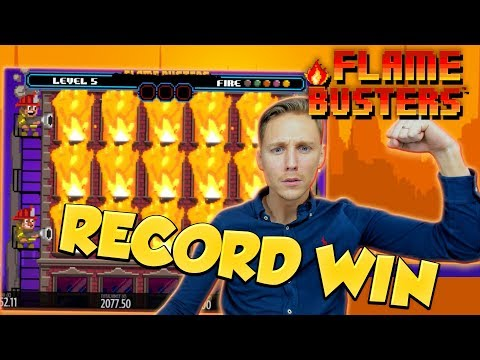 RECORD WIN!!! Flame Busters Big win – Casino – free spins (Online Casino)