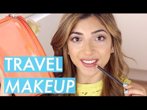 What's In My Travel Makeup Bag Tutorial | Amelia Liana видео