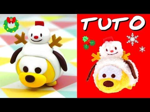TUTO FIMO | Pluto en bonhomme de neige (Tsum Tsum de Noël)
