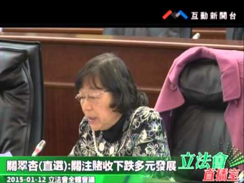 關翠杏 20150112立法會全體會議