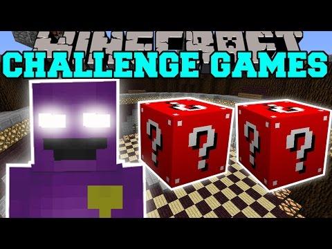 Minecraft: PURPLE MAN CHALLENGE GAMES - Lucky Block Mod - Modded Mini-Game