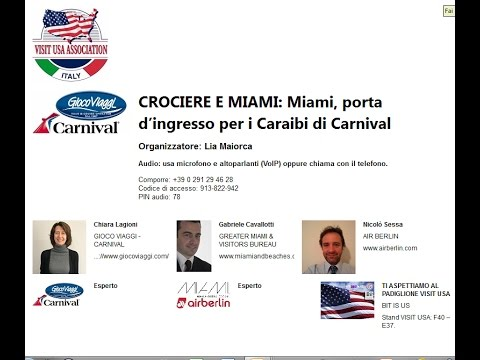 Video CROCIERE E MIAMI Miami, porta d'ingresso per i Caraibi di Carnival (28-3-2017)