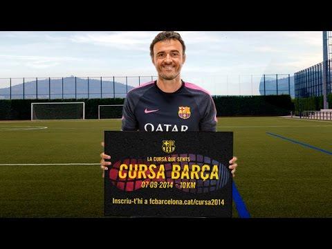 Luis Enrique, con la Cursa Barça 2014