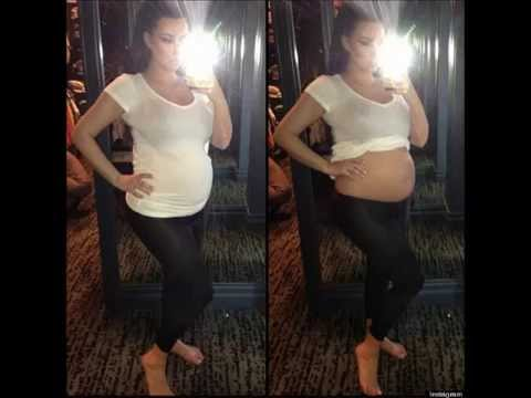 Kim Kardashian Tweets Picture Of Bare Baby Bump (Real Photo)