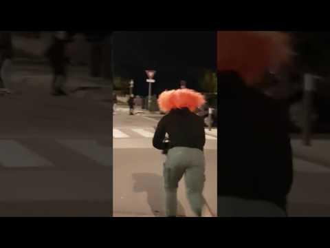 Clown tueur gitan avec tronçonneuse Toulouse 31 2016
