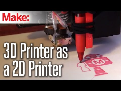 Using - See the full article with downloadable files and many more pictures here: http://wp.me/p22K2I-1T5B A quick and simple attachment can let you use your 3D printer as a simple pen plotter. It...