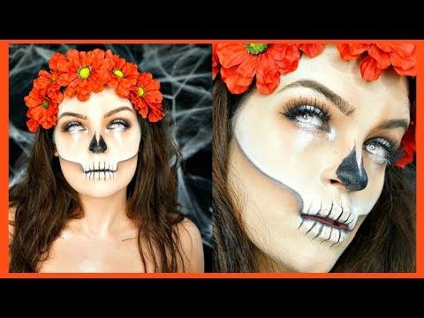 Skull Makeup Tutorial Dia de los Muertos