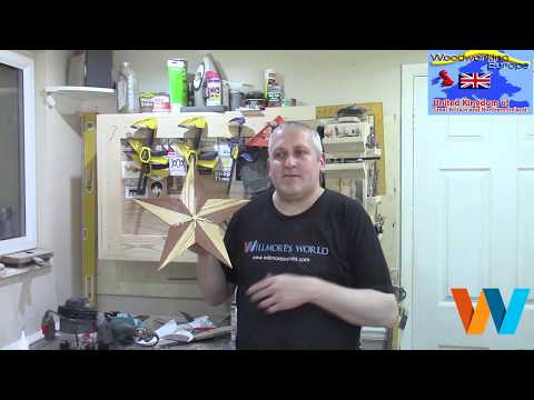 How to make a star clock #32   Woodworking Europe Collaboration 2016