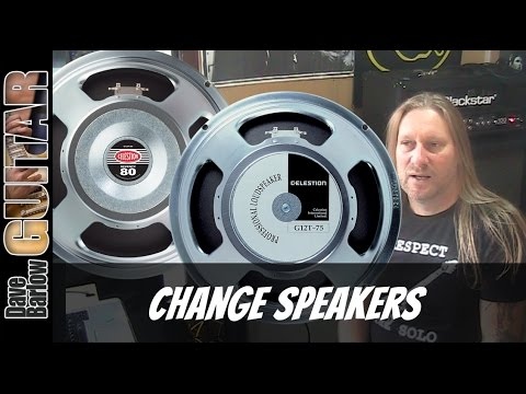 Change Guitar Speakers in Your 2x12 Cabinet