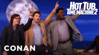 """The Cast Of """"Hot Tub Time Machine 2"""" Breaks The Space-Time Continuum  - CONAN on TBS"""