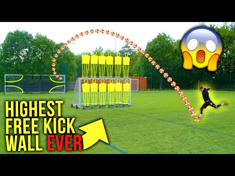WORLD'S HIGHEST FREE KICK WALL CHALLENGE 😱 | F2Freestylers