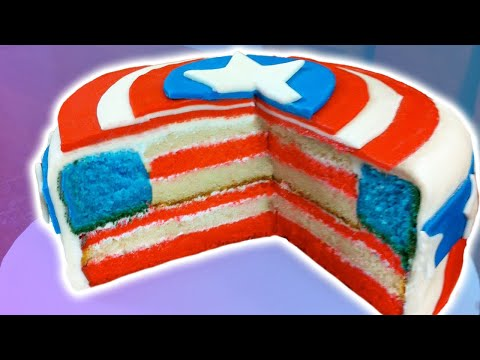 cookingpanda Watch How to Make a Captain America Cake