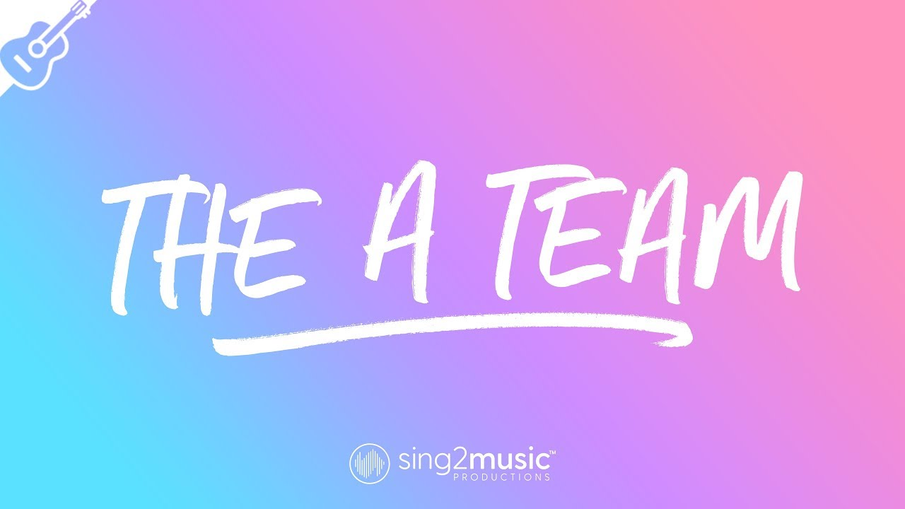 The A Team (Acoustic Guitar Karaoke) Ed Sheeran