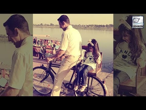 Akshay Kumar Takes CUTE Bicycle Ride With Daughter