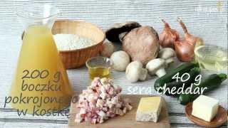 Przepis na risotto z cukinią i pieczarkami