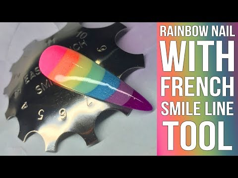ACRYLIC RAINBOW NAIL - With French Smileline Tool