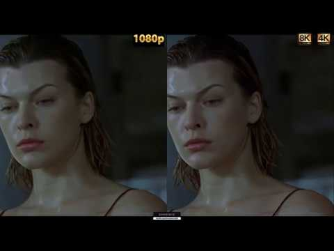 RESIDENT EVIL 1 | UHD 8K remastered vs 1080p Blu-ray non HDR  | Machine learning
