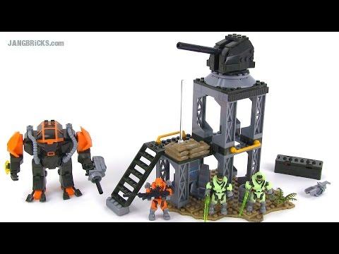 Mega Bloks Halo 97515 Containment Outpost Patrol set review!